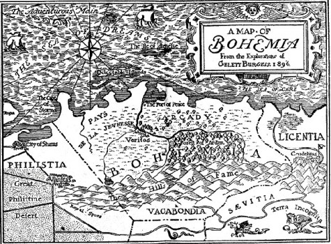 Gelett_Burgess_-_Map_of_Bohemia_1896